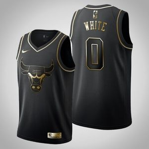 Chicago Bulls Coby White Jersey Black